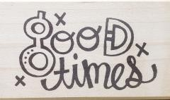 Rubbermoon Good Times stamp