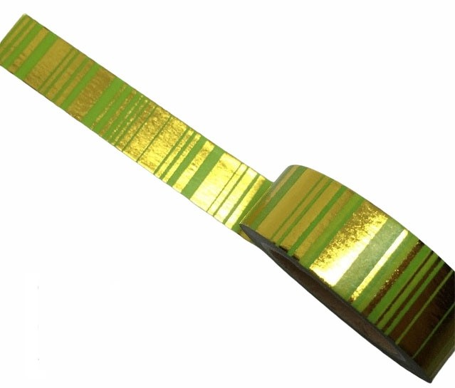 Green and Gold Washi Tape