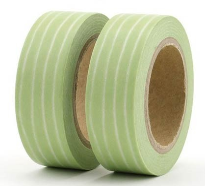 Green Striped Washi Tape