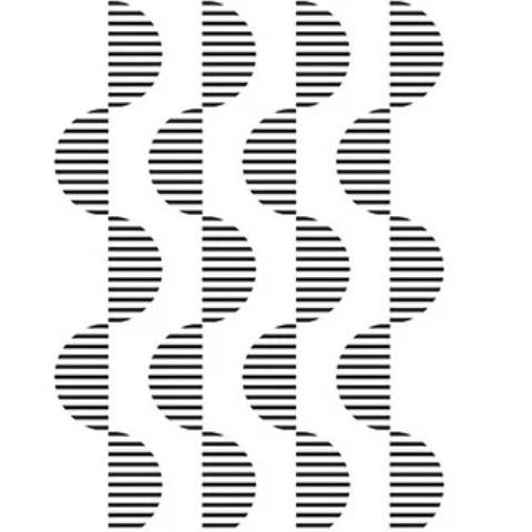 Half Circle Pattern Embossing Folder