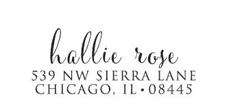 Hallie Rose Custom Stamp