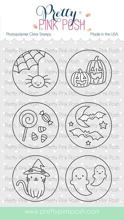 Pretty Pink Posh Halloween Circles stamp set