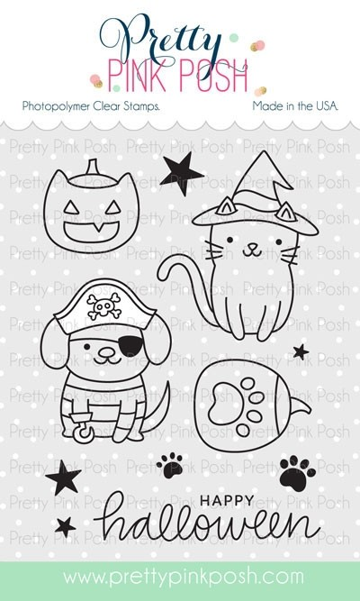 Pretty Pink Posh Halloween Pals Stamp Set