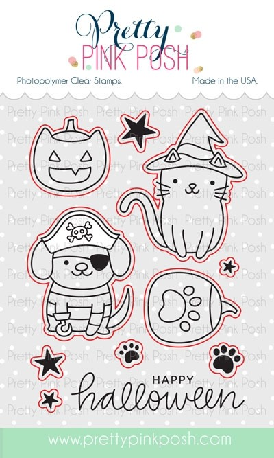 Pretty Pink Posh Halloween Pals Coordinating Dies