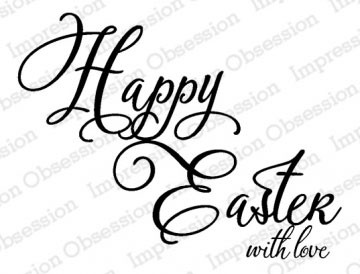 Happy Easter with love Rubber Stamp il20488