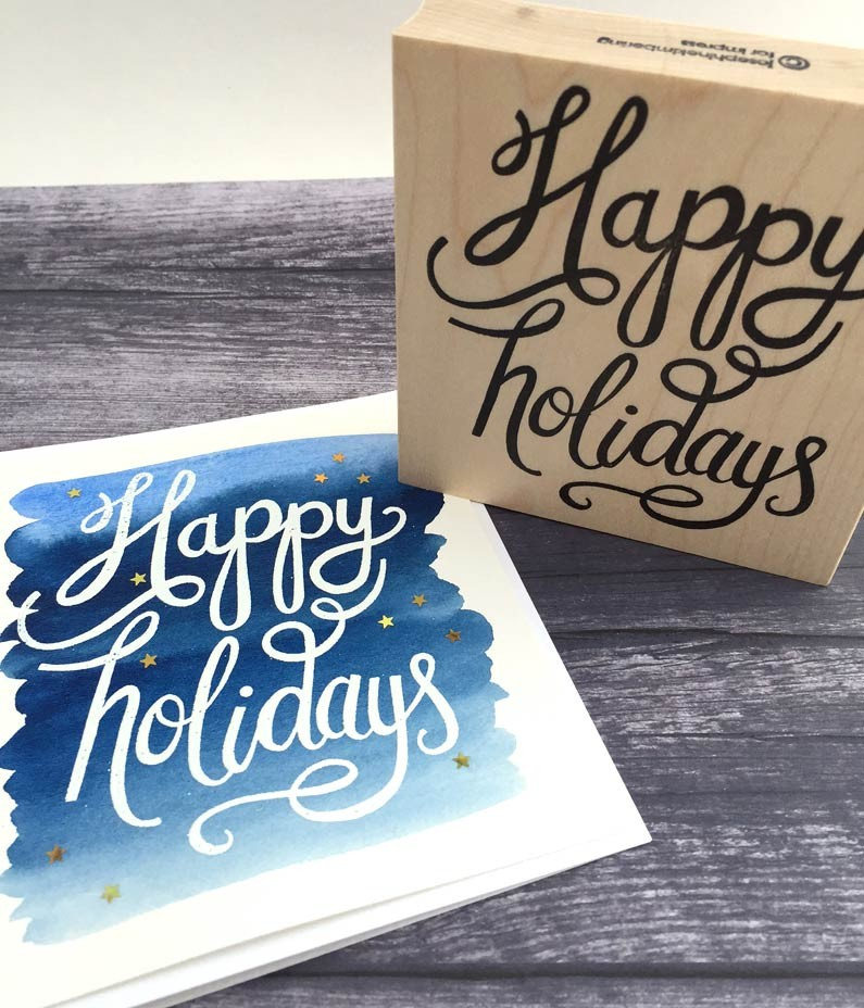5593g - happy holidays hand lettering