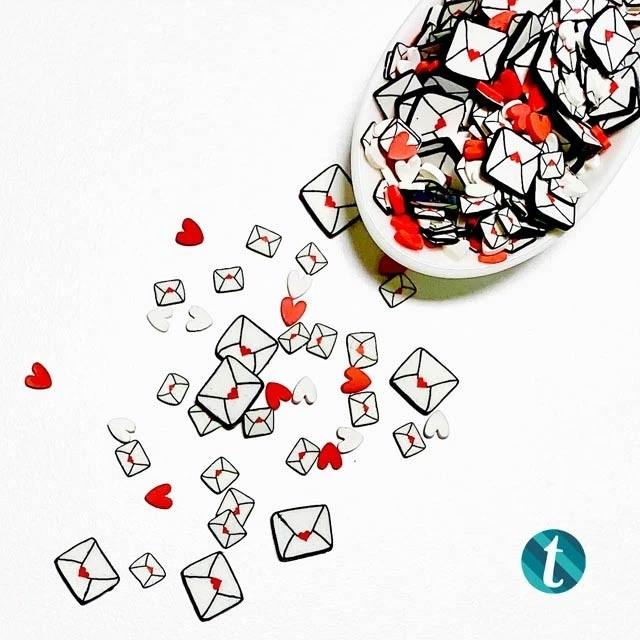 Sending Love Clay Envelope Embellisments