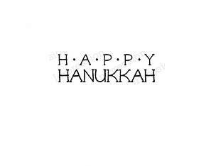 Happy Hanukkah rubber stamp 14474iob