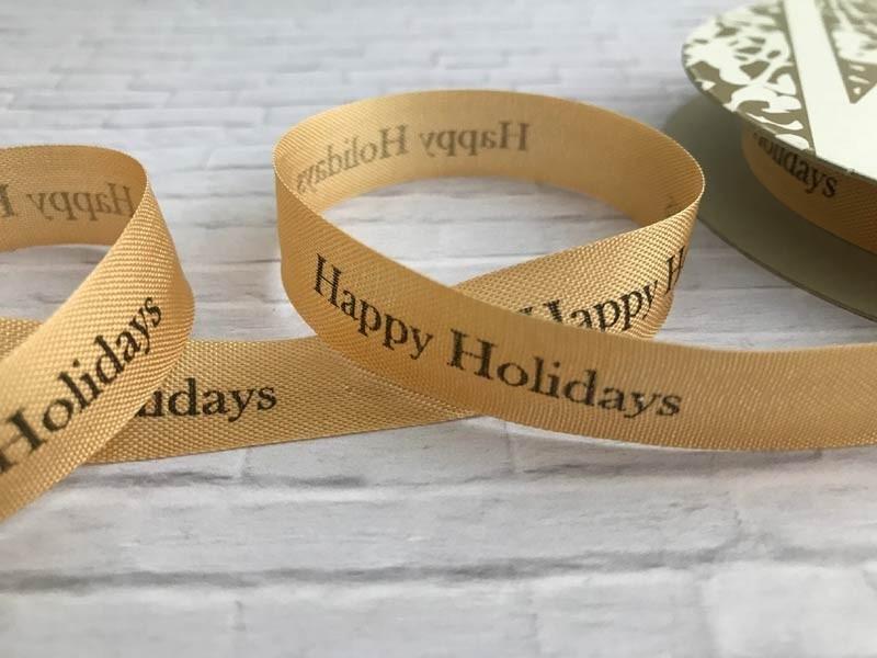 Happy Holiday Ribbon