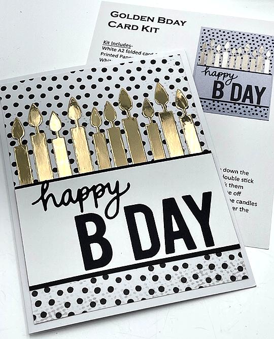Single Card Kit - Happy Bday