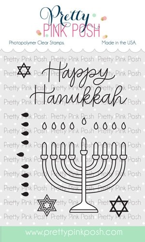 Pretty Pink Posh Happy Hanukkah stamp set
