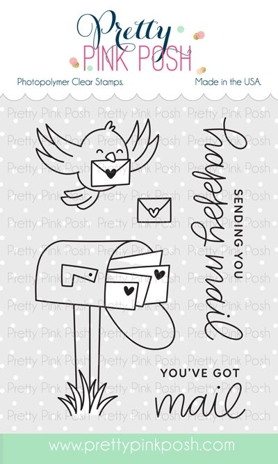 Pretty Pink Posh Happy Mail Clear Stamps