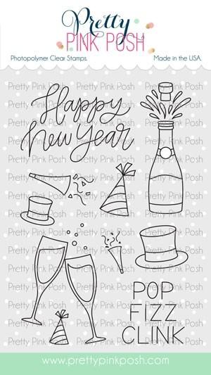 Pretty Pink Posh Happy New Year stamp set