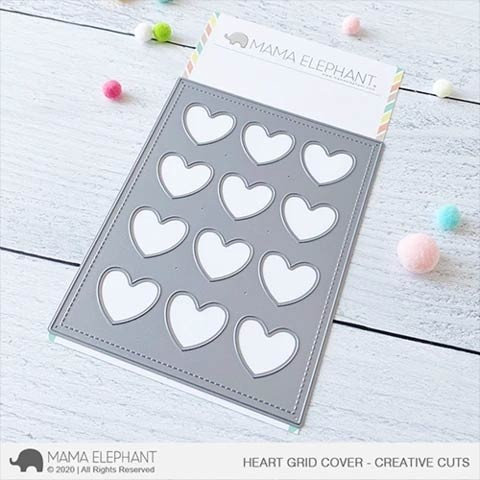 Mama Elephant Heart Grid Cover
