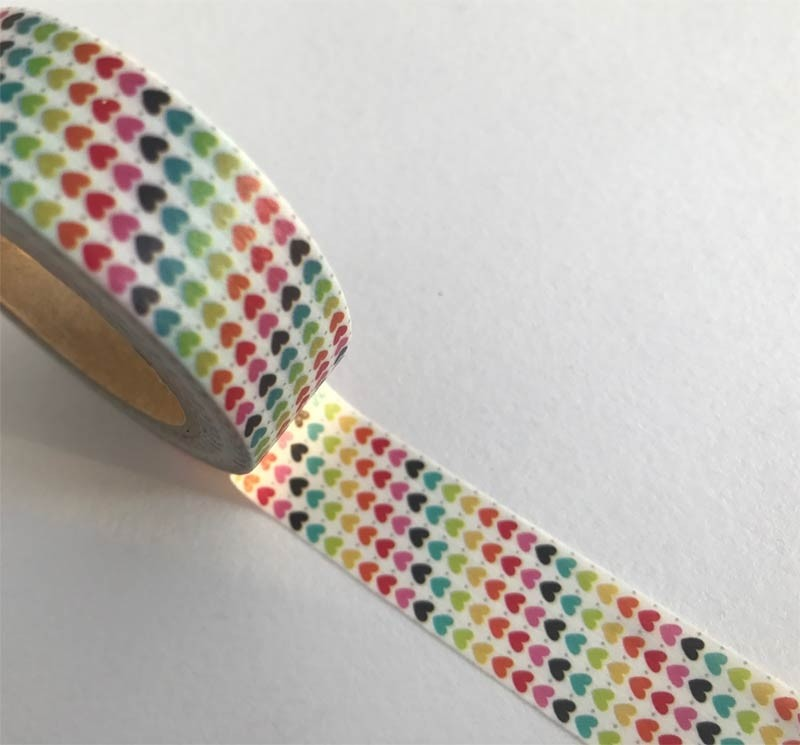 Rainbow of Hearts Washi Tape