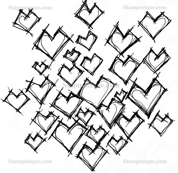 Stampotique Daniel's Hearts 6109