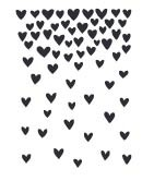 Falling Hearts Rubber Stamp 5763e