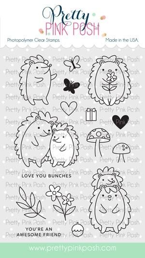 Pretty Pink Posh Hedgehog Friends Stamp Set