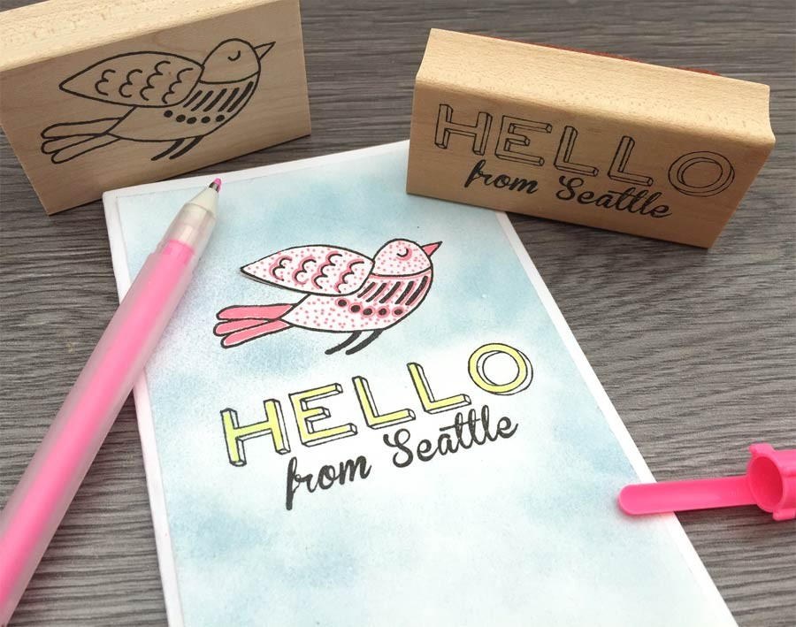 Hello from your city! Custom Stamp