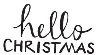 Hello Christmas Rubber Stamp  1591d