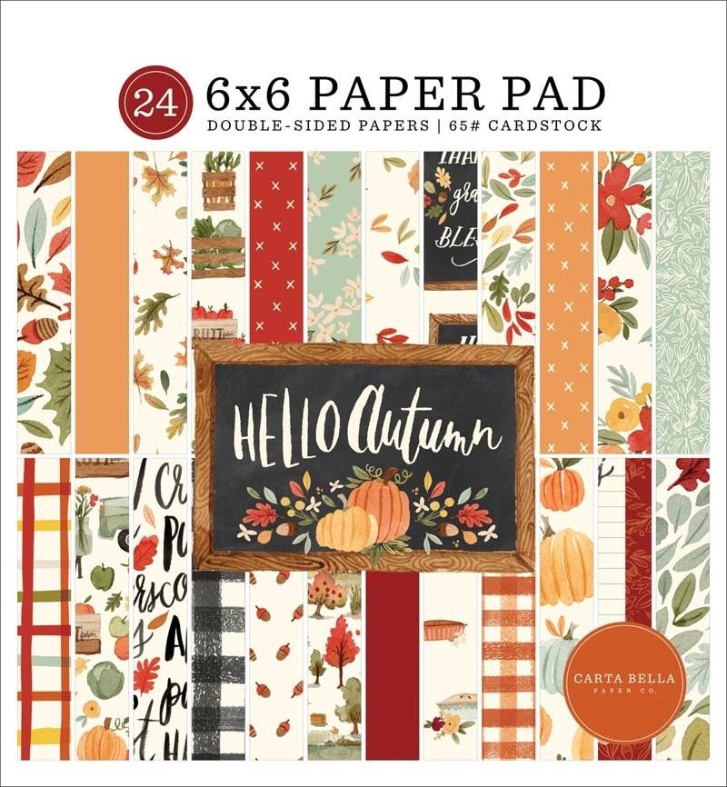 Carta Bella Hello Autumn Paper Pad 6x6
