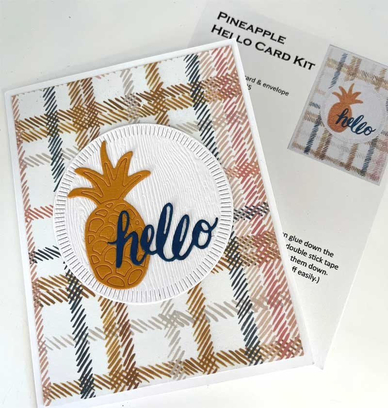 Single Card Kit - Pineapple Hello