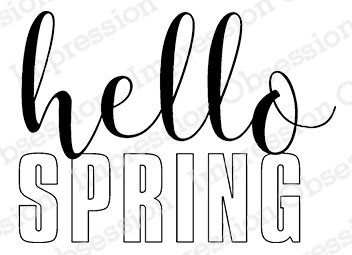 Hello Spring Stamp Rubber Stamp