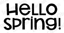 Hello Spring! cling stamp  ioa5761