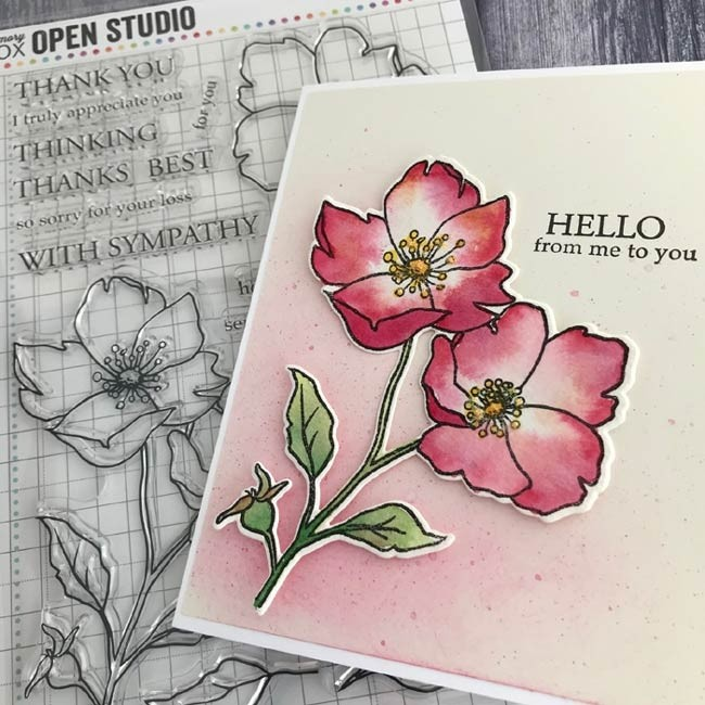 Memory Box  CL5258 Wild Rose Stem clear stamp set