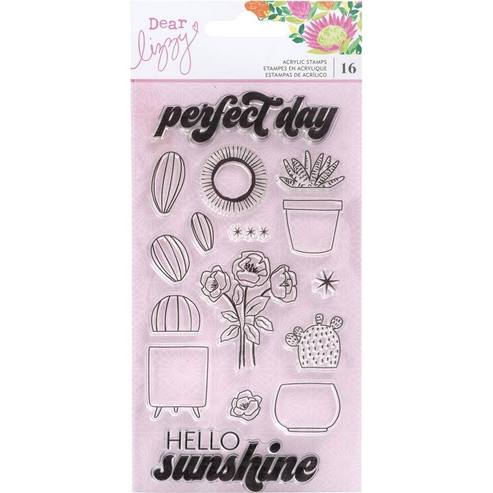 Dear Lizzy Here and Now Clear Stamp Set