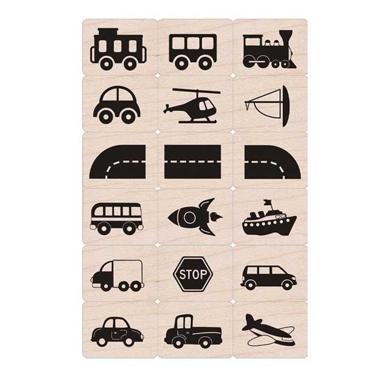 Hero Arts Toy Vehicles Stamps