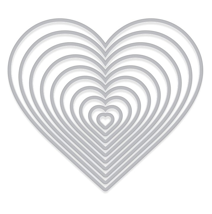 Hero Arts Nesting Heart Infinity Die