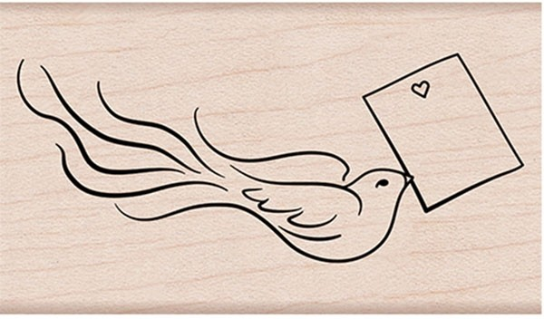 Hero Arts Love Note Bird Rubber Stamp g6259