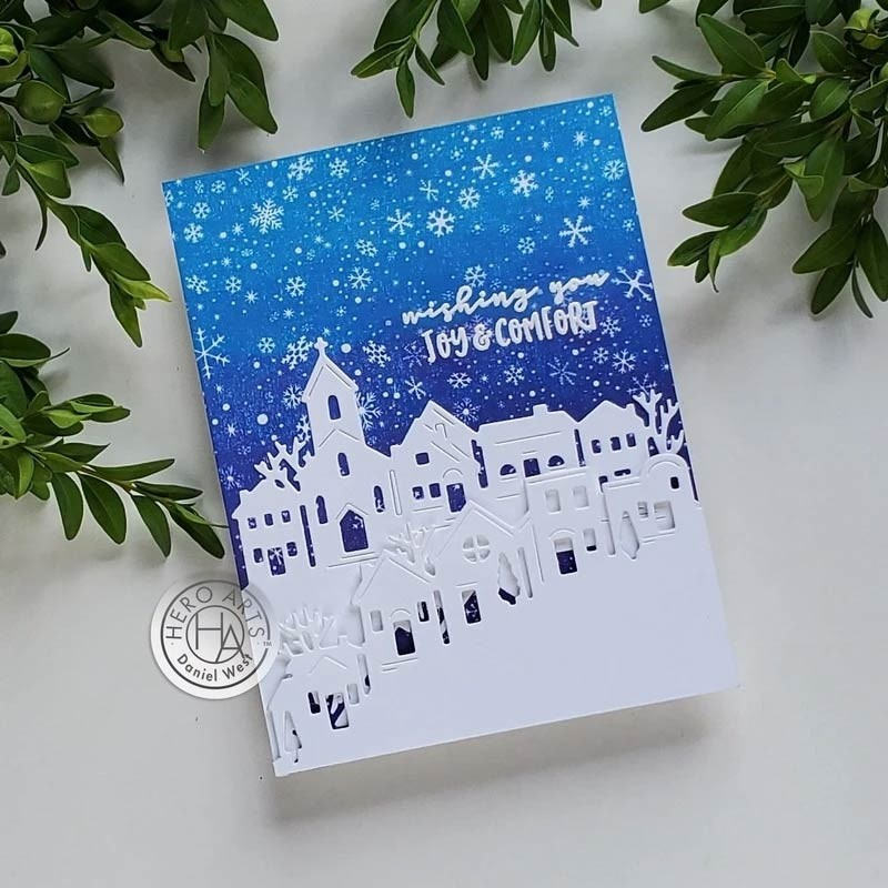 Hero Arts Tri-fold Edge Village Fancy Die di787