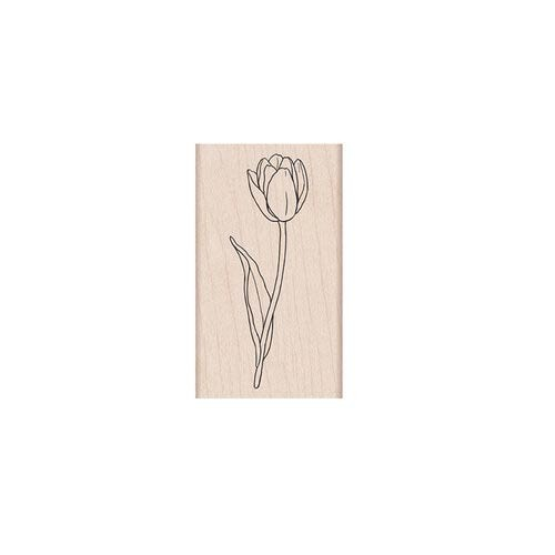 Hero Arts tulip rubber stamp