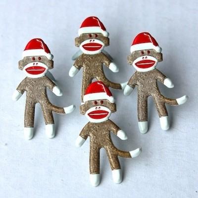 Holiday Sock Monkey Brads