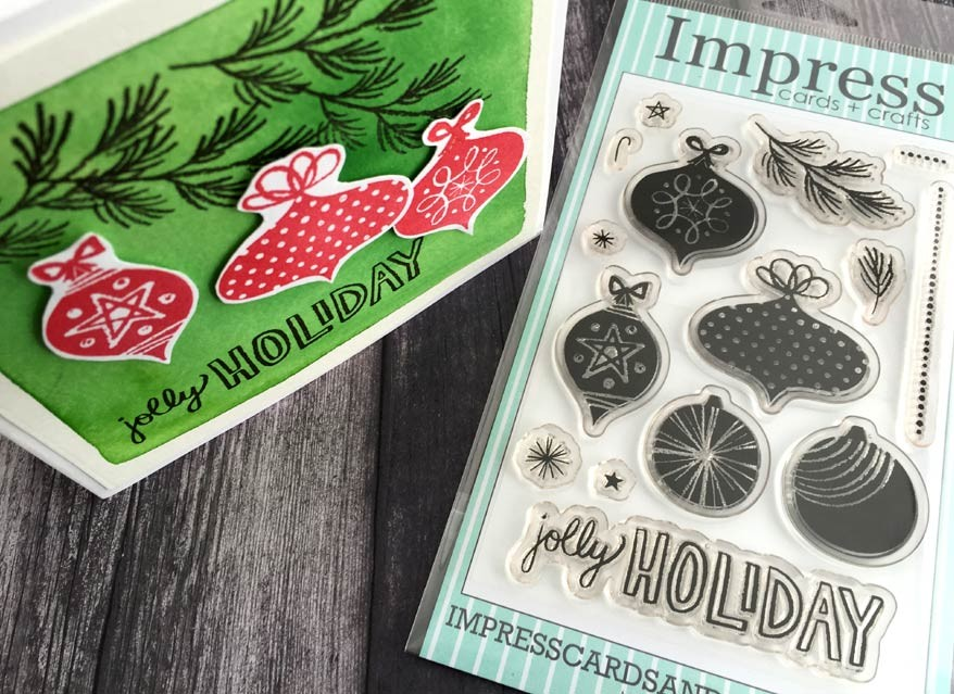 SALE - Impress Jolly Holiday Ornament Clear Set