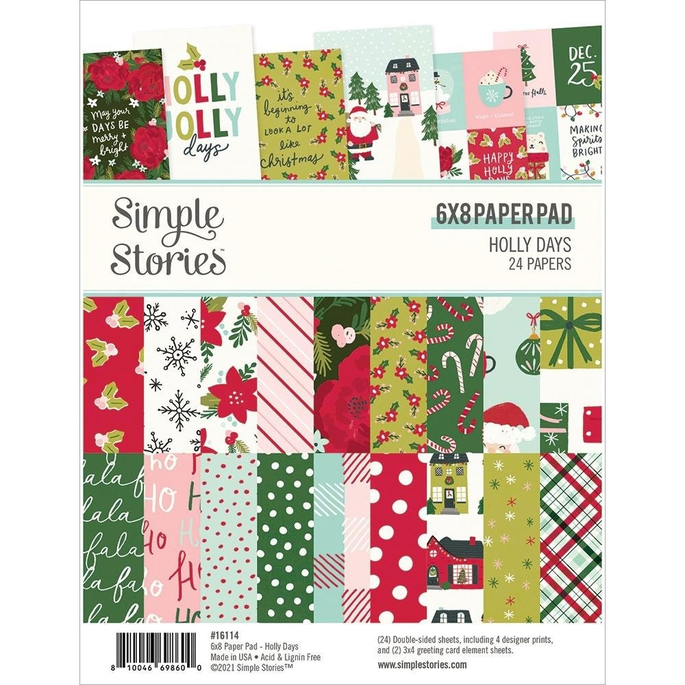 Simple Stories Holly Days Paper Pad