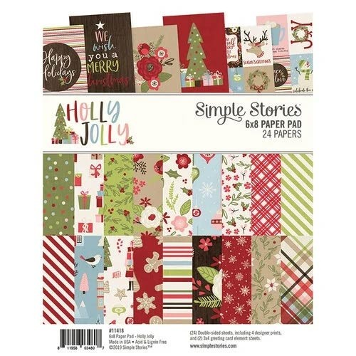 SALE - Simple Stories Holly Jolly Paper Pad