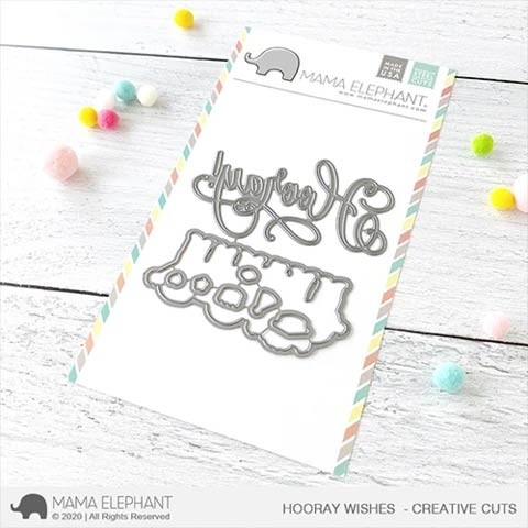 Mama Elephant Hooray Wishes - Creative Cuts