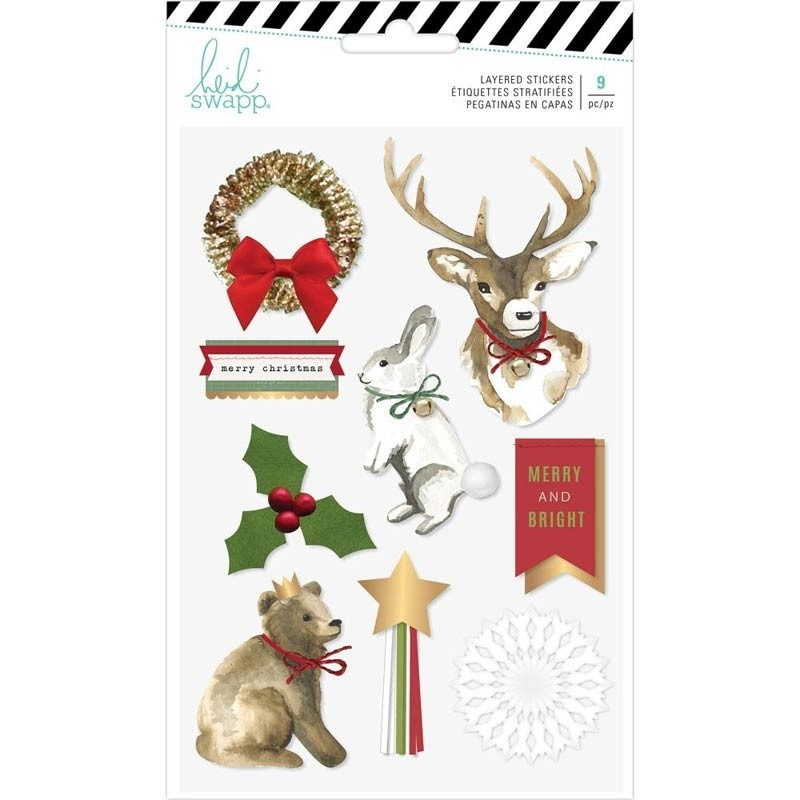 SALE - Heidi Swapp Winter Wonderland Layered Stickers 9/Pkg