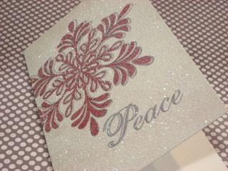 Glittered Card