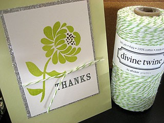 green and white divine twine