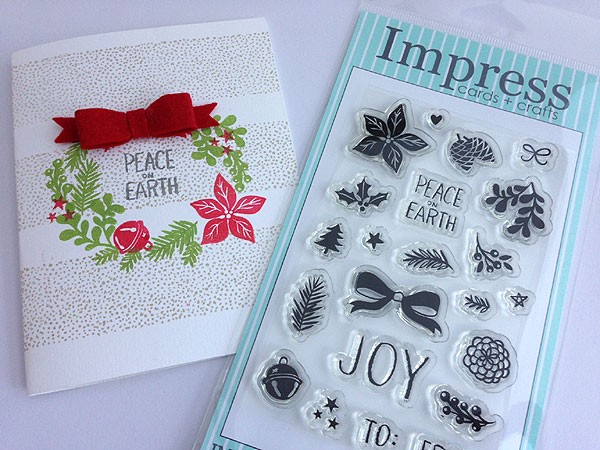 Impress Botanical Wreath Clear Set