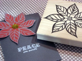 Outline Poinsettia Card