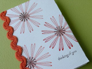 Outline Star Flower Card