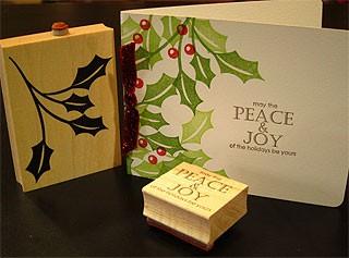 Peace and Joy Holly