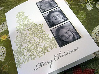 Snowflake Tree Photo Card
