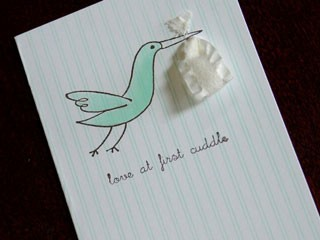Stork Ribbon Card