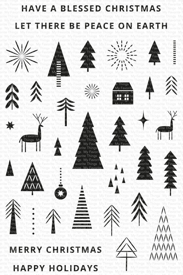 My Favorite Things Iconic Christmas Clear Stamp Set